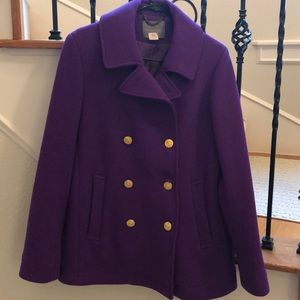J.Crew Purple Pea Coat
